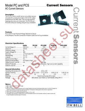 PCS-50 datasheet.