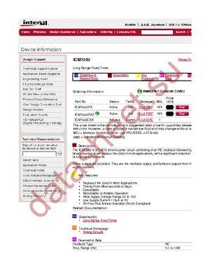 ICM7242IPA datasheet скачать даташит