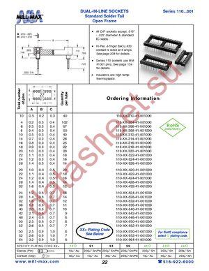 110-99-316-41-001000 datasheet скачать даташит
