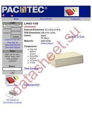 LH43-100-000-K datasheet скачать даташит